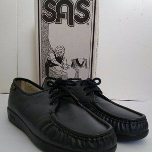 Siesta Size 9.5 W Handsewn Black Leather Comfort